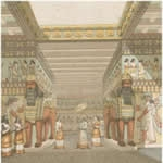 Drawing of royalty at Nineveh